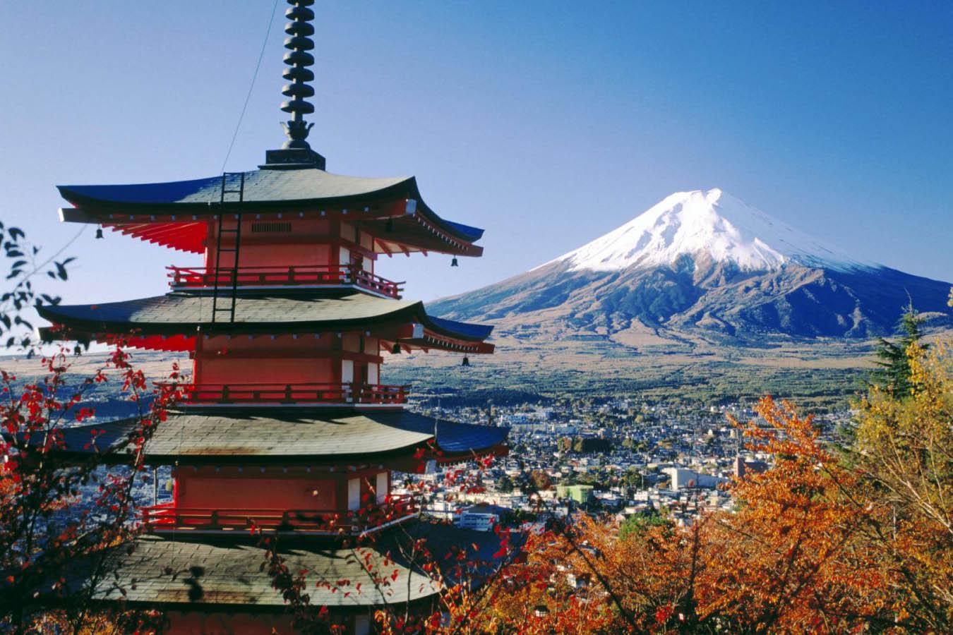 Chùa Chureito và núi Phú Sĩ